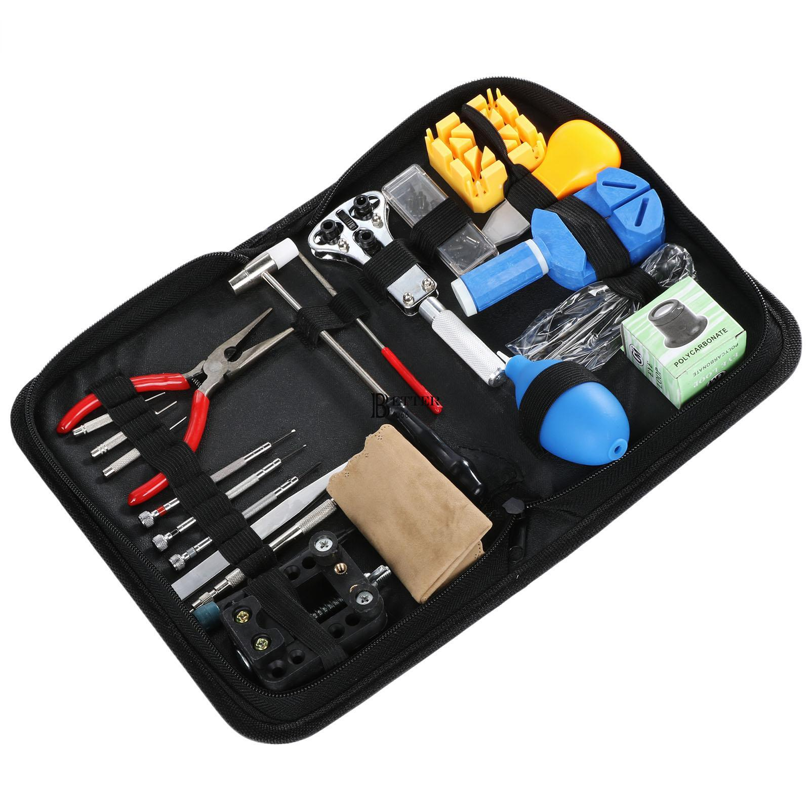 21pcs watch repair tool kit case opener link remover spring bar jewelry repair. Black Bedroom Furniture Sets. Home Design Ideas
