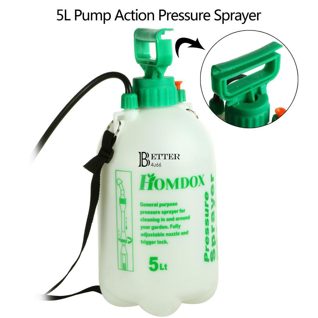 watering 5l pressure sprayer pump action garden weedkiller. Black Bedroom Furniture Sets. Home Design Ideas